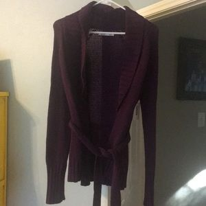 Great dark purple (eggplant) cardigan